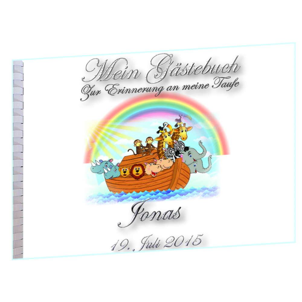 Gästebuch Zur Taufe Arche Noah Personalisiert Itp71